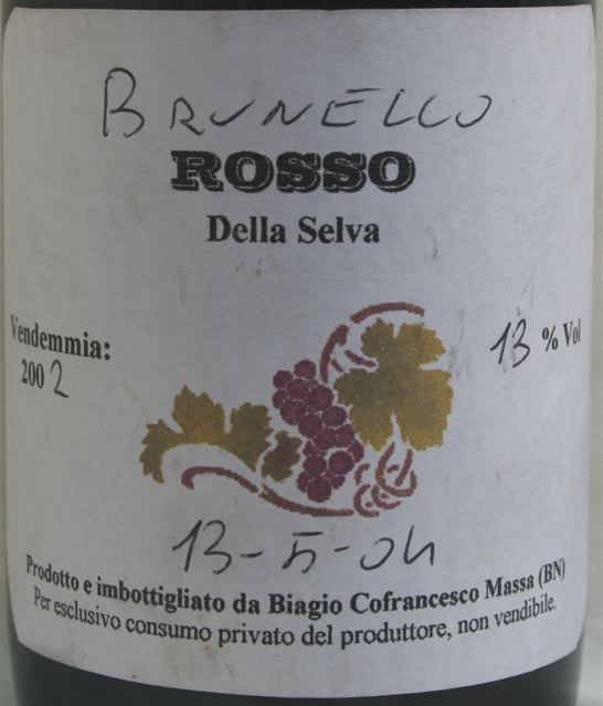 Biagio Cofrancesco's wine
